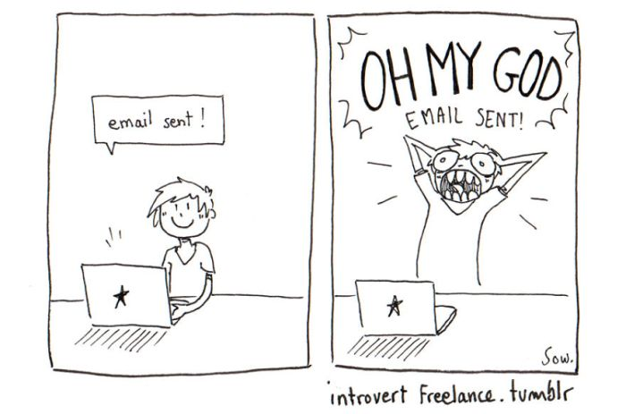 It's Hard To Be An Introverted Freelancer (7 pics)