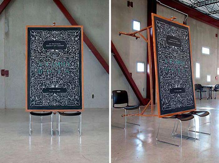 Smart Chalkboard Graffiti Prank (21 pics)