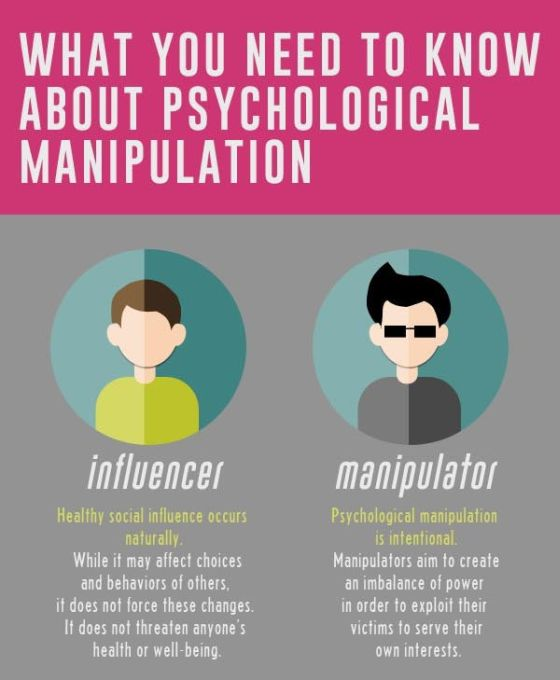 psychological manipulation Psychological manipulation: is a type of social influence that aims to change the   social influence may constitute underhanded manipulation.