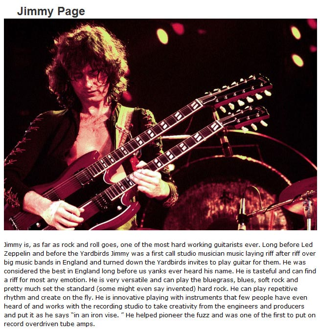 The 10 Greatest Guitarist Of All Time (10 pics + 10 video)