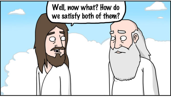 Jesus vs. God (7 pics)
