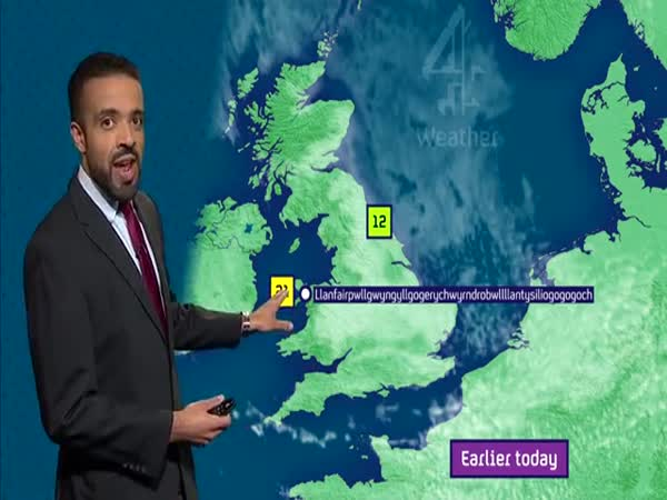 Weather Presenter Nails Europe's Longest Place Name Live On TV