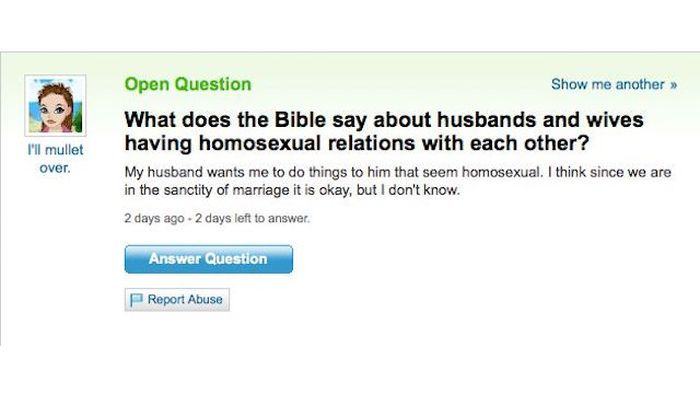 Funny And Weird Yahoo Answers (16 pics)