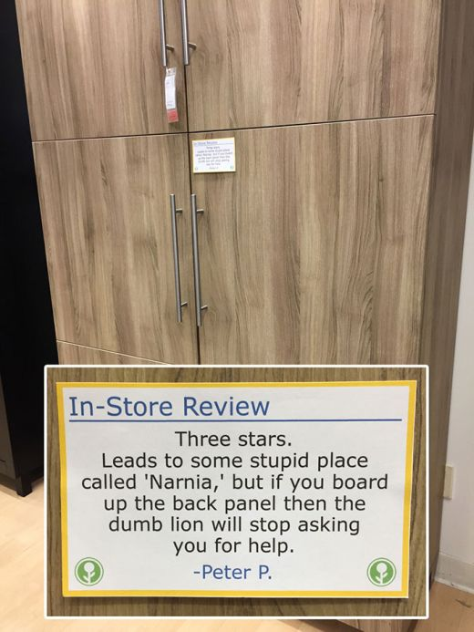Guy Trolls IKEA By Putting Fake In-Store Reviews All Over The Place (9 pics)