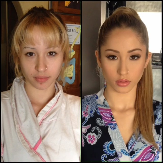 Girls With And Without Makeup 55 Pics-6496