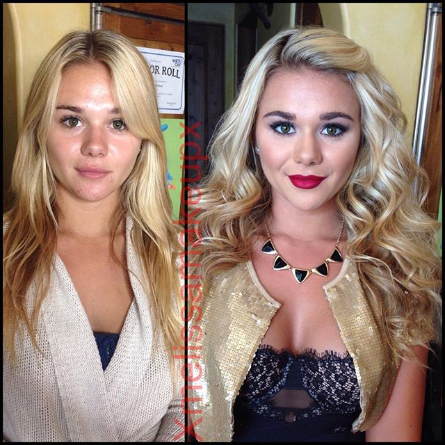 Girls With And Without Makeup (55 pics)