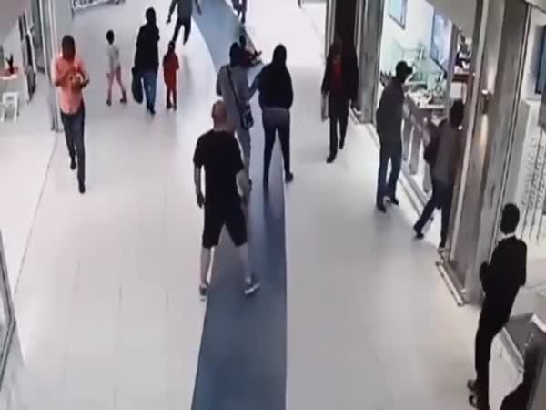 Guy Tackles A Robber
