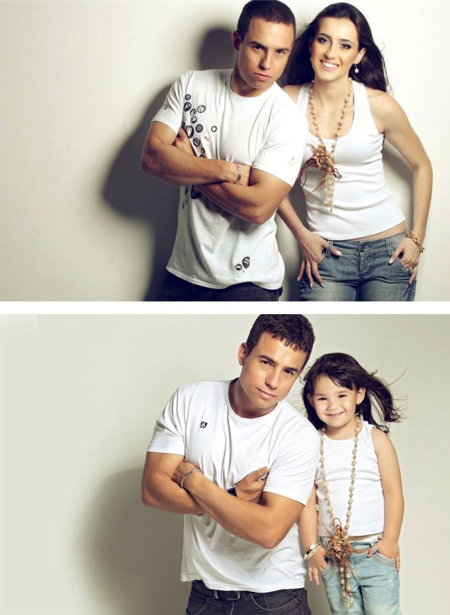 Man Poses With His Daughter To Recreate Photos Of His Late Wife (13 pics)