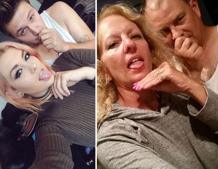 Couple Gets Trolled By Girl's Parents For Taking Selfies (4 pics)