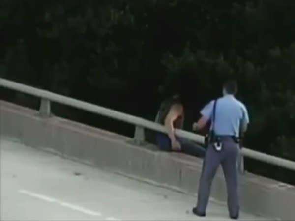 Cop Rescued Suicidal Man