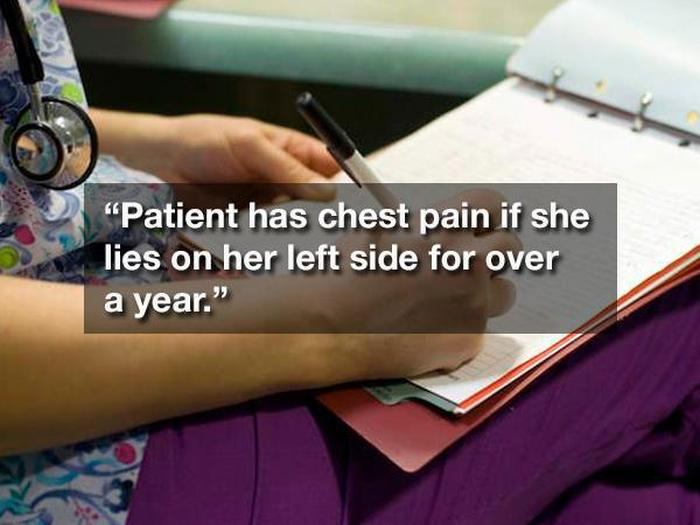 20 Of The Strangest Things Ever Found On Hospital Patient Charts (20 pics)
