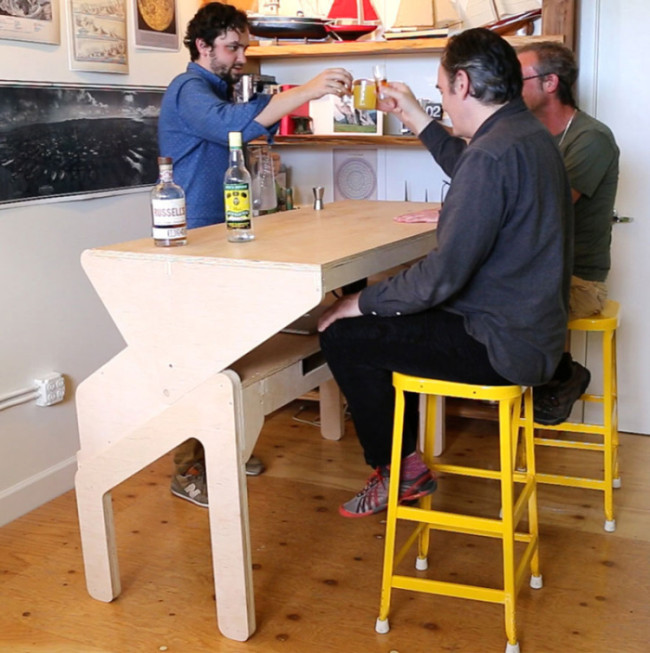 Everyone Needs A Transforming Desk Bar In Their House (6 pics)