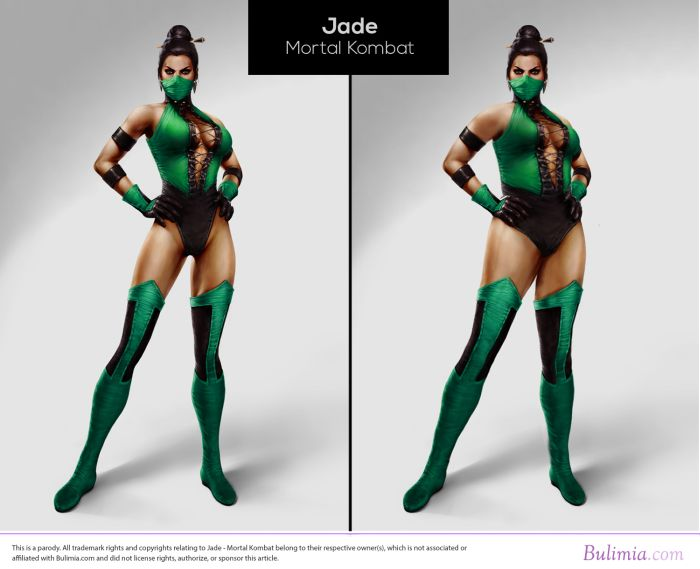 What Video Game Characters Would Look Like If They Had Average Body Types (10 pics)