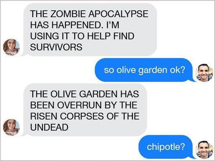 This Guy On Tinder Had No Idea He Was In The Middle Of A Zombie Apocalypse (8 pics)