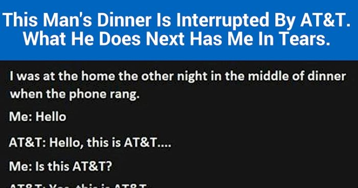Someone Made The Mistake Of Interrupting This Man's Dinner With A Phone Call (5 pics)