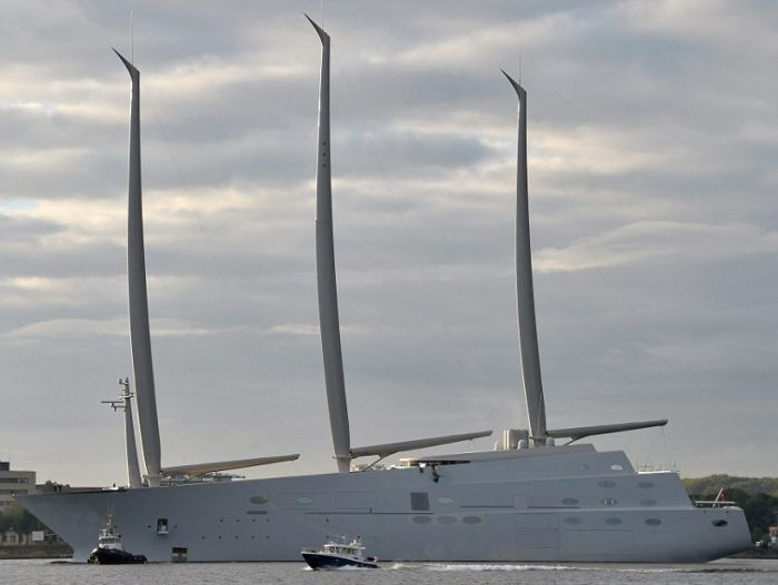 Russian Billionaire Unveils Massive 300 Foot Tall Yacht With 8 Floors (8 pics)