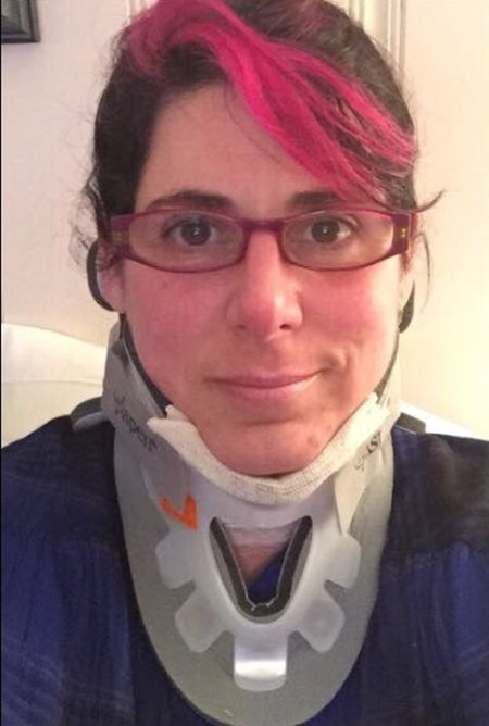 Woman Creates Steampunk Style Cervical Collar (2 pics)