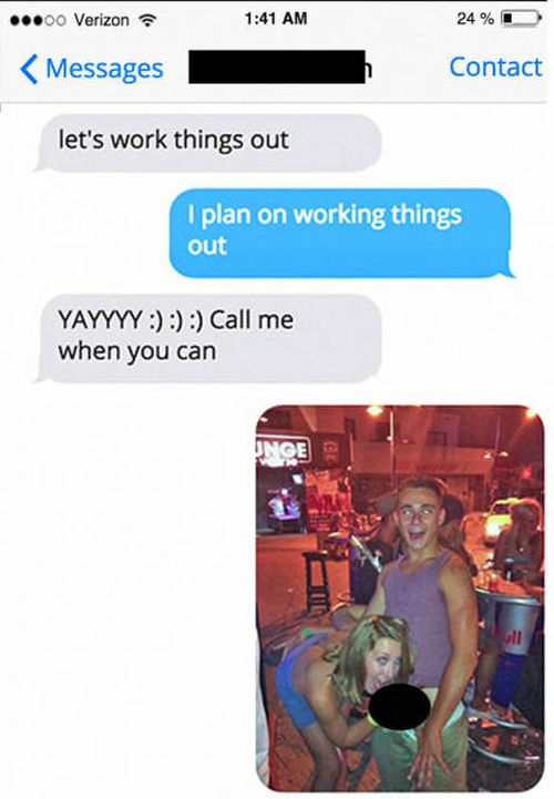 Guy Has Epic Response For His Cheating Ex-Girlfriend (3 pics)