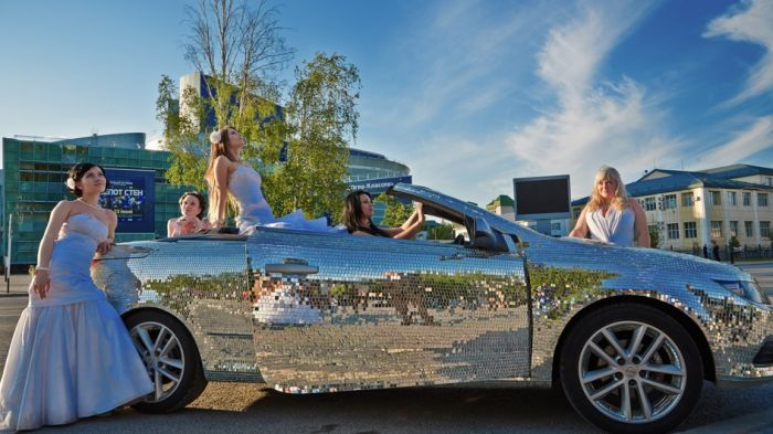Cool Car Is Covered Completely With Mirrors (15 pics)