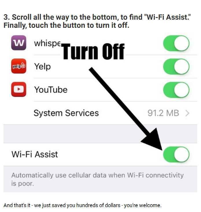 How To Prevent Your iPhone Bill From Going Sky High (4 pics)