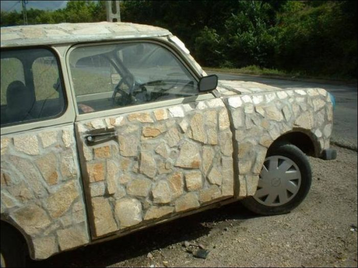 Car Made Out Of Stone Is Unlike Anything You've Ever Seen (2 pics)