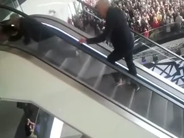 Men On The Wrong Escalator
