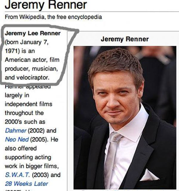 Spot On Celebrity Descriptions From Wikipedia (20 pics)