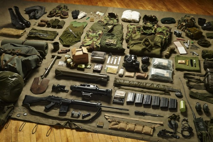 Tom Atkinson Presents Soldier Kits From Back In The Day And Today (13 pics)