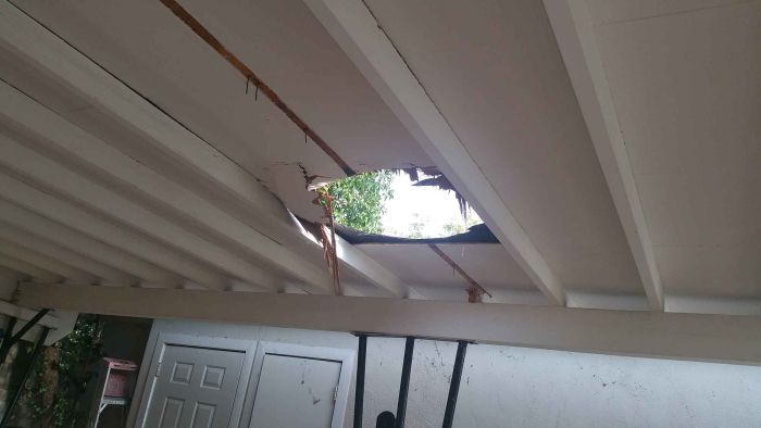 Giant Bundle Of Weed Comes Crashing Through A Family's Roof (2 pics)