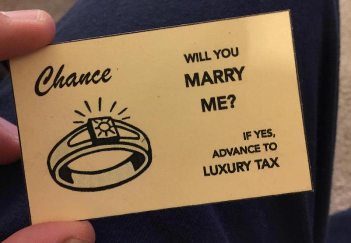 Man Uses Handmade Monopoly Board To Propose To His Girlfriend (7 pics)