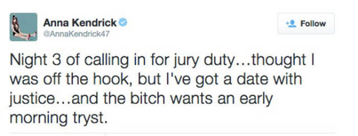 Anna Kendrick Has The Most Entertaining Profile On Twitter (16 pics)