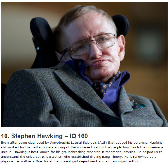 These Are The Top 10 Highest IQs in Human History (10 pics)