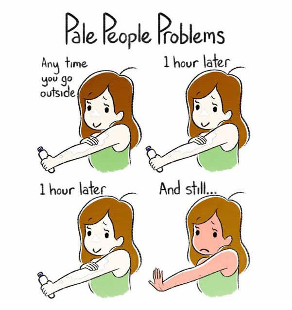 Problems That Only Pale People Will Understand (4 pics)