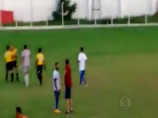 Soccer Referee With A Gun