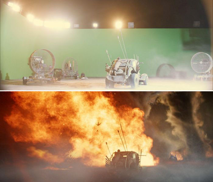 See What Your Favorite Movie Scenes Look Like Without Special Effects (51 pics)