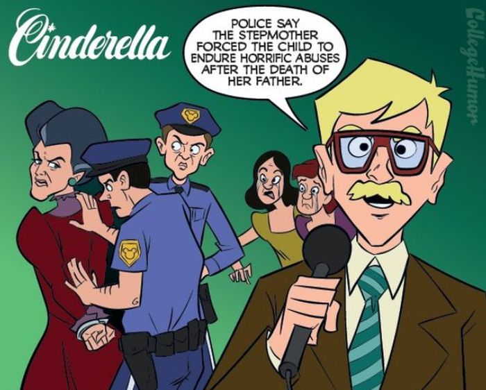 What Disney Movies Would Be Like If They Had Cops (6 pics)