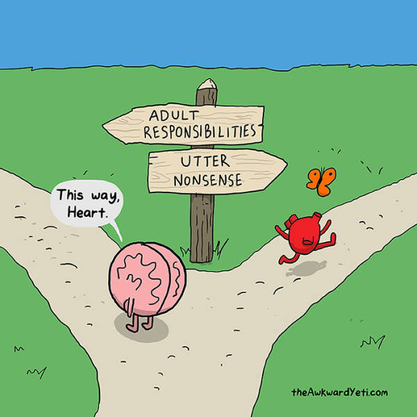 Funny Pictures Show The Constant Struggle Between Our Hearts And Minds (62 pics)