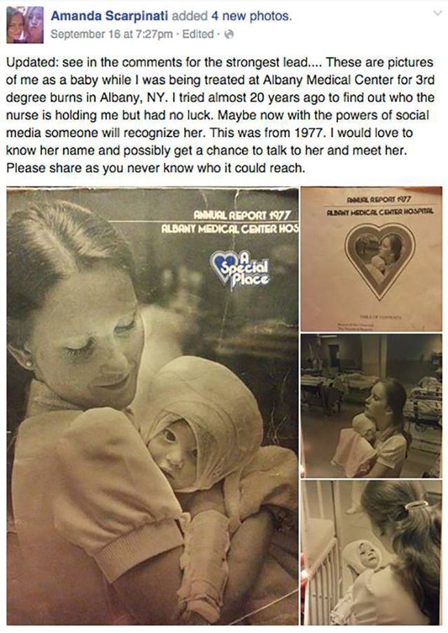Social Media Reconnects Woman With Nurse Who Cared For Her As A Child (7 pics)
