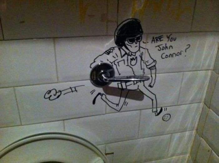 Bathroom Graffiti Masterpieces That Are True Works Of Art (16 pics)