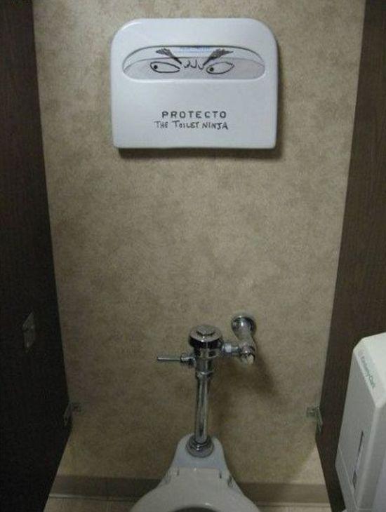 Bathroom Graffiti Masterpieces That Are True Works Of Art (16 pics)