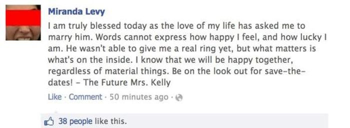 Couple Accidentally Reveals A Shocking Secret While Announcing Their Engagement (6 pics)
