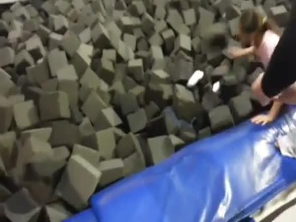 Girl Jumping Fail