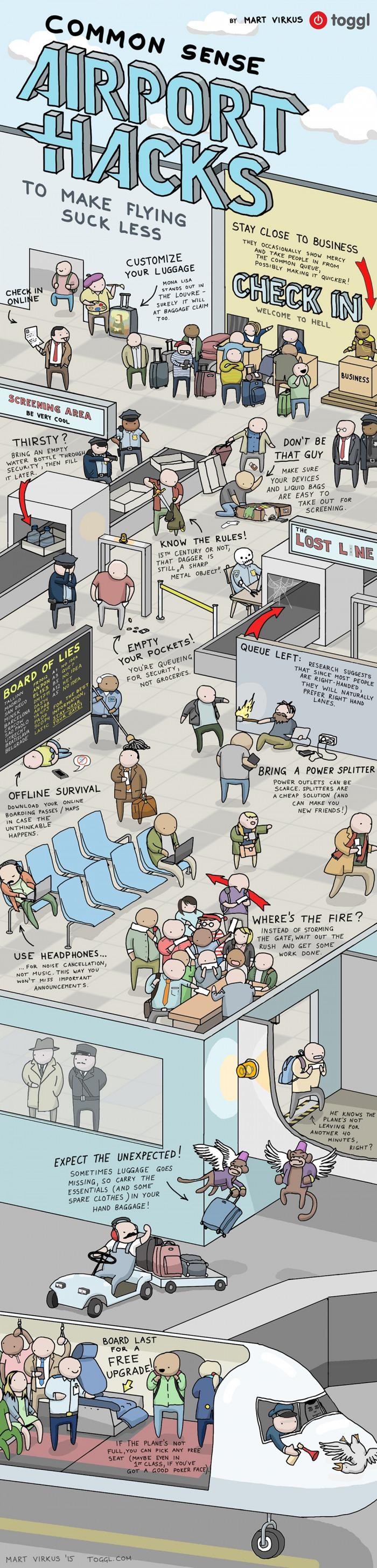 Airport Hacks That Make Flying A Lot More Fun