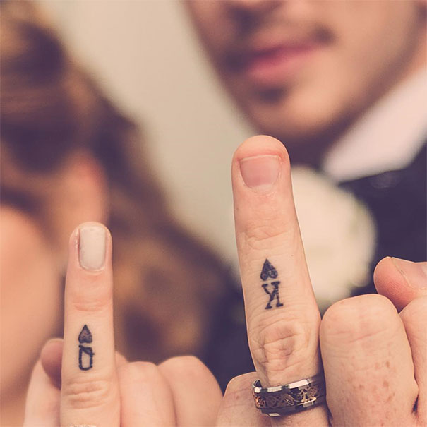 Tattoo Wedding Rings With Names 64 Best These Brave Couples Decided