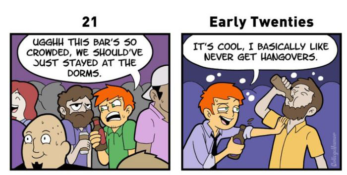 What Drinking is Like Throughout The Different Stages Of Life (6 pics)