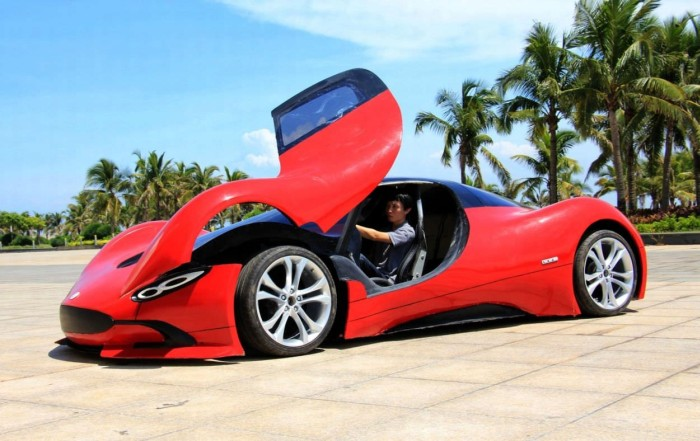 27 year old chinese engineer builds homemade super car 14 pics. Black Bedroom Furniture Sets. Home Design Ideas