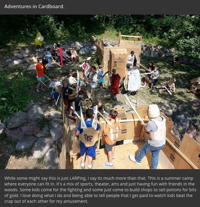 Cardboard Camp Introduces Your Kids To Roleplaying And Epic Battles (11 pics)