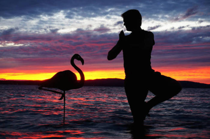 Man Uses Sunsets To Create Awesome Selfies (26 pics)