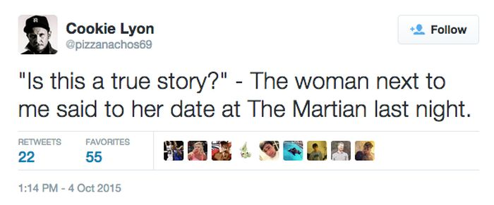 It's Scary How So Many People Think 'The Martian' Is Based On A True Story (14 pics)