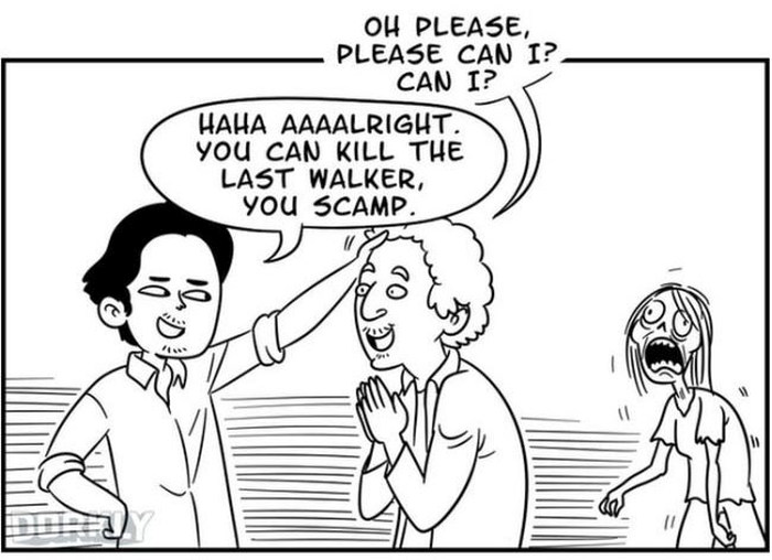 9 Doodles That Perfectly Sum Up The Walking Dead Season 6 Premiere (9 pics)